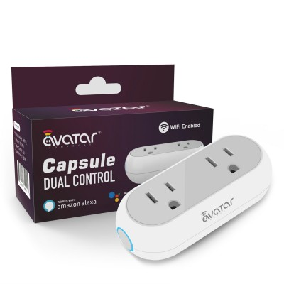 Smart Capsule WiFi Plug Dual Sockets
