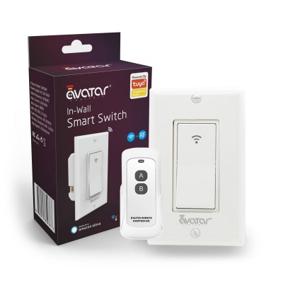 Smart WiFi In-Wall Switch with RF Remote